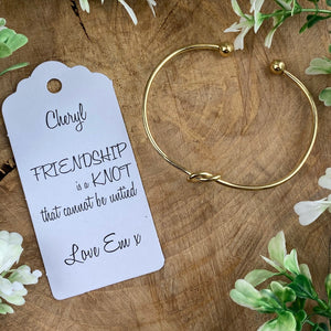 Friendship Is A Knot Bangle-8-The Persnickety Co