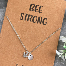 Load image into Gallery viewer, Bee Strong Necklace-4-The Persnickety Co