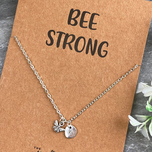 Bee Strong Necklace-4-The Persnickety Co