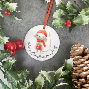 Personalised Christmouse Hanging Decoration-9-The Persnickety Co