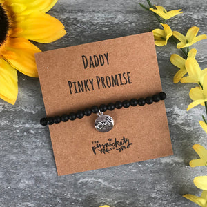 Daddy Pinky Promise Black Onyx Bracelet-3-The Persnickety Co