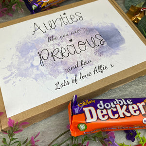 Personalised Auntie Chocolate Box