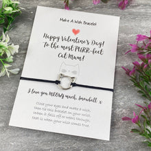 Load image into Gallery viewer, Happy Valentines Purr-Fect Cat Mum - Wish Bracelet-7-The Persnickety Co