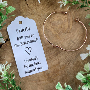 Will You Be My Bridesmaid Knot Bangle-7-The Persnickety Co
