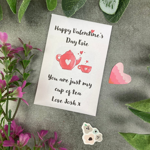 You Are Just My Cup Of Tea Valentine's Day Tea Envelope-The Persnickety Co