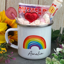 Load image into Gallery viewer, Enamel Mug - Rainbow The Greater The Storm-The Persnickety Co