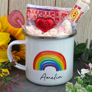 Enamel Mug - Rainbow The Greater The Storm-The Persnickety Co
