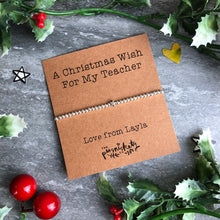 Load image into Gallery viewer, A Christmas Wish For My Teacher-The Persnickety Co