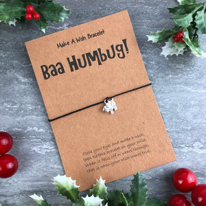Baa Humbug Wish Bracelet-4-The Persnickety Co
