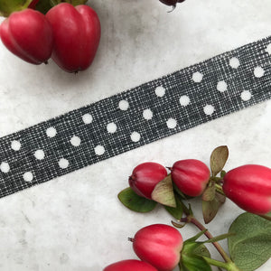 Black and White Polka Dot Washi Tape