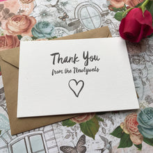 Load image into Gallery viewer, Thank You Wedding Card-7-The Persnickety Co