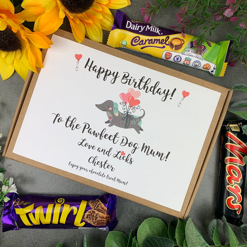 Personalised Dog Mum Birthday Chocolate Box-The Persnickety Co