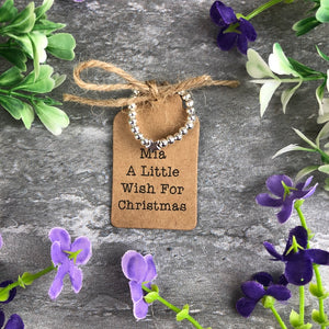 A Little Wish For Christmas Stretch Ring-The Persnickety Co