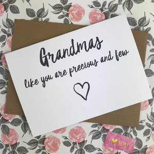 Mother's Day Card Grandmas Like You Are Precious And Few-7-The Persnickety Co