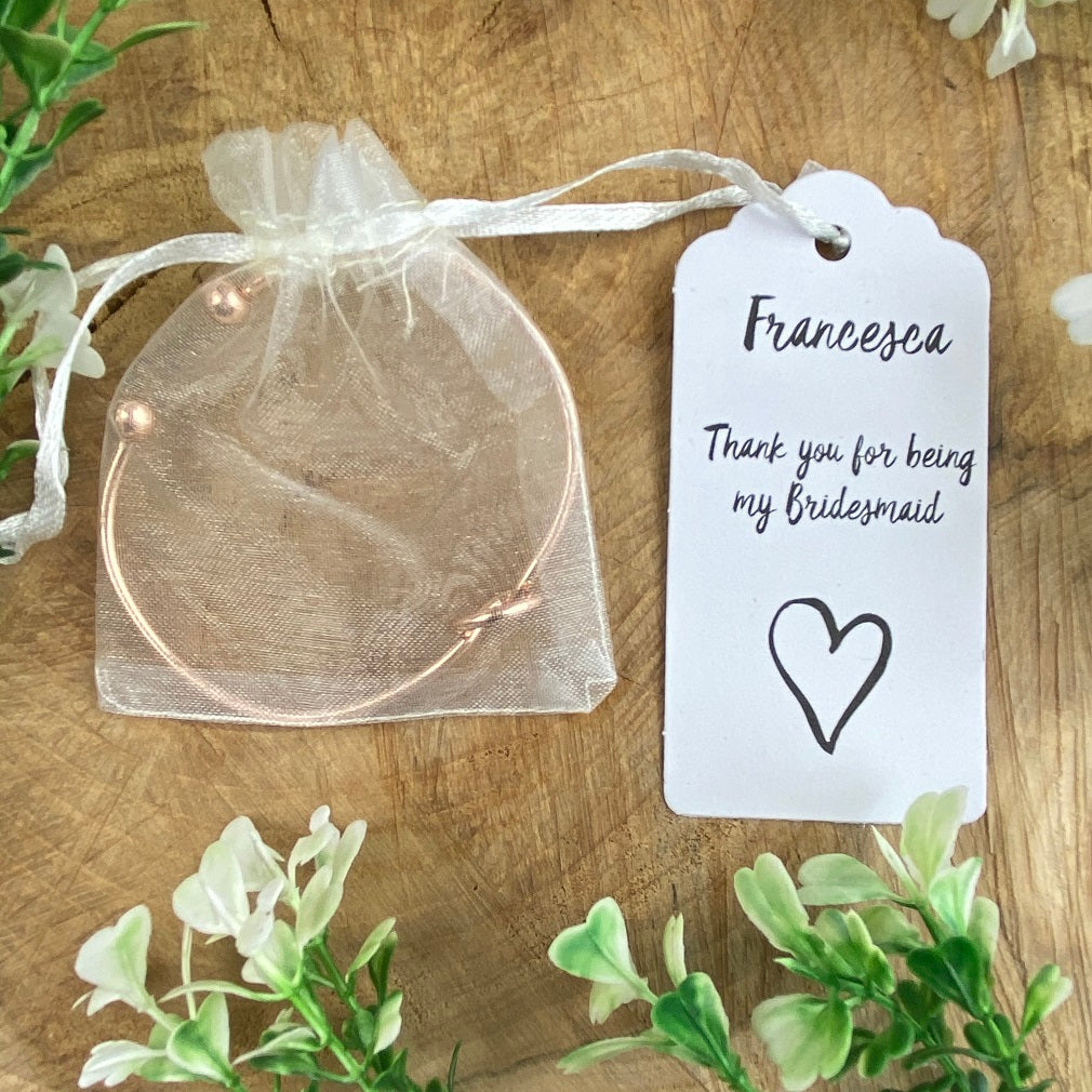 Knot Bangle - Thank You For Being My Bridesmaid-The Persnickety Co