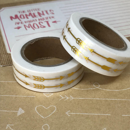 Gold Foil Arrow Washi Tape-The Persnickety Co