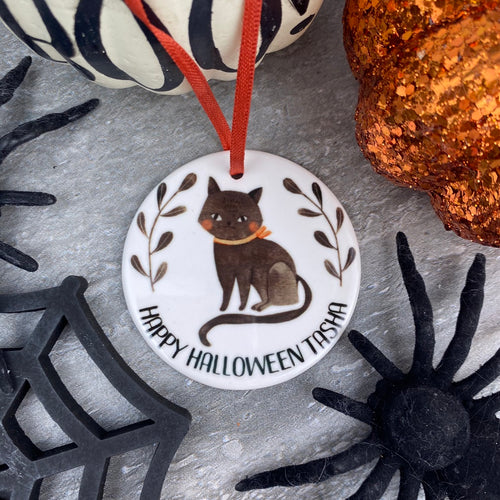 Black Cat Halloween Hanging Decoration-The Persnickety Co