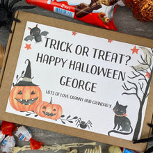 Load image into Gallery viewer, Trick Or Treat? Personalised Halloween Kinder Bueno Box-8-The Persnickety Co