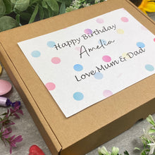 Load image into Gallery viewer, Happy Birthday Personalised Sweet Box-7-The Persnickety Co