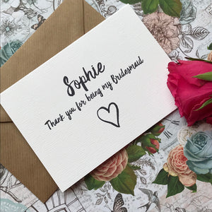 Personalised Thank You For Being My Bridesmaid-3-The Persnickety Co