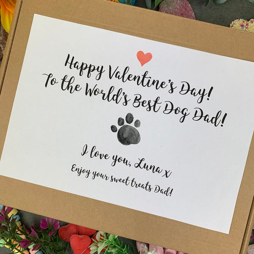 Personalised Pawfect Dog Dad Valentines Sweet Box-The Persnickety Co