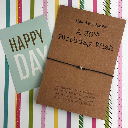A 30th Birthday Wish -Star-The Persnickety Co
