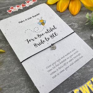 Bride To Bee Wish Bracelet On Plantable Seed Card-6-The Persnickety Co