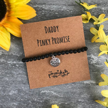 Load image into Gallery viewer, Daddy Pinky Promise Black Onyx Bracelet-9-The Persnickety Co