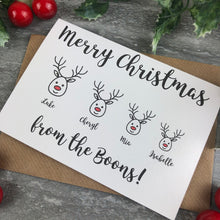Load image into Gallery viewer, Personalised Reindeer Cards-7-The Persnickety Co