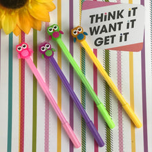 Load image into Gallery viewer, Colourful Owl Gel Pen-6-The Persnickety Co