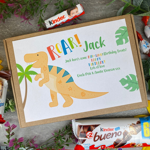 Dinosaur Roar Birthday Kinder Treat Box-The Persnickety Co