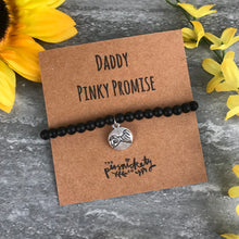 Load image into Gallery viewer, Daddy Pinky Promise Black Onyx Bracelet-The Persnickety Co