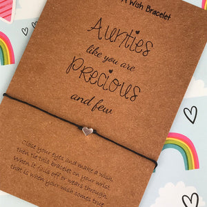Aunties Like You Are Precious And Few - Wish Bracelet-3-The Persnickety Co