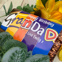 Load image into Gallery viewer, Personalised Grandad Birthday Chocolate Bar