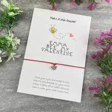 Load image into Gallery viewer, Personalised Bee My Valentine Wish Bracelet-2-The Persnickety Co
