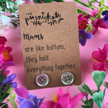 Load image into Gallery viewer, Mums Are Like Buttons Earrings-5-The Persnickety Co