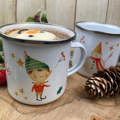 Elf Boy Personalised Enamel Mug-The Persnickety Co