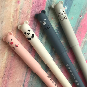 Cute Big Ear Animal Gel Pen - Pig/Panda/Bear/Mouse-7-The Persnickety Co