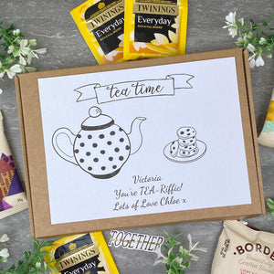 You're TEA-Riffic Personalised Tea and Biscuit Box-9-The Persnickety Co
