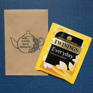 Hello ..is it TEA your looking for? Mini Kraft Envelope with Tea Bag-3-The Persnickety Co