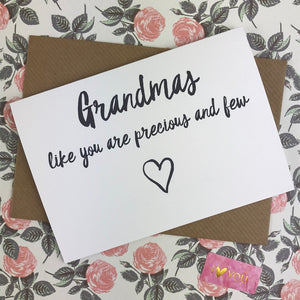 Mother's Day Card Grandmas Like You Are Precious And Few-5-The Persnickety Co