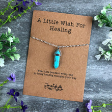 Load image into Gallery viewer, Crystal Necklace - A Little Wish For Healing-5-The Persnickety Co