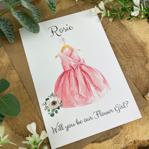 Will You Be Our Flower Girl Wedding Card-The Persnickety Co