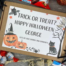 Load image into Gallery viewer, Trick Or Treat Personalised Halloween Kinder Bueno Box-4-The Persnickety Co