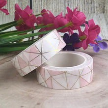 Load image into Gallery viewer, Pink Geometric Washi Tape-The Persnickety Co