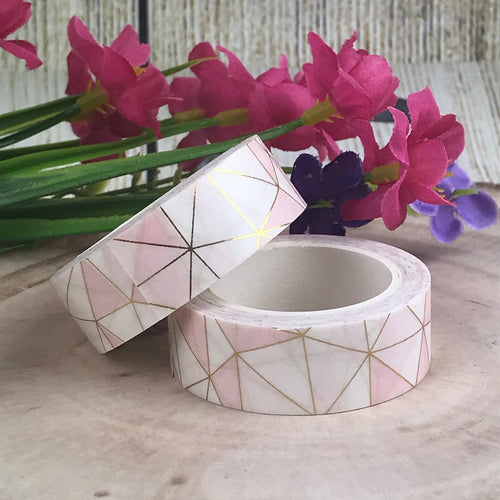 Pink Geometric Washi Tape-The Persnickety Co