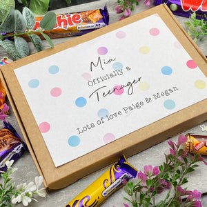 Officially A Teenager Personalised Chocolate Box-8-The Persnickety Co