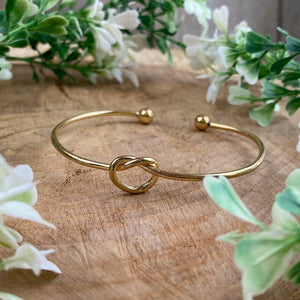 Will You Be My Bridesmaid Knot Bangle-5-The Persnickety Co