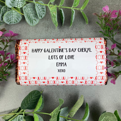 Happy Galentine's Day Chocolate Bar XOXO-The Persnickety Co