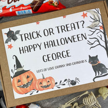 Load image into Gallery viewer, Trick Or Treat Personalised Halloween Kinder Bueno Box-3-The Persnickety Co